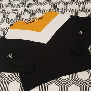 H&M Black, Yellow and White Sweatshirt